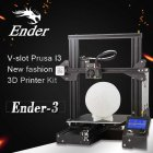 The Creality 3D CR Ender3  3D Printer supports a large printing volume of 300x220x300mm and different filaments which makes it perfect for big printing projects