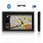 The GeekPS GPS Navigator with multimedia functionality  a 5 inch touchscreen  Bluetooth and FM transmitter is the ultimate geek on the go gadget