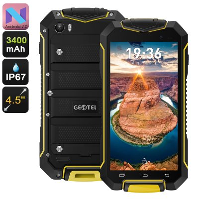 Geotel A1 Rugged Android 7 Phone (Yellow)