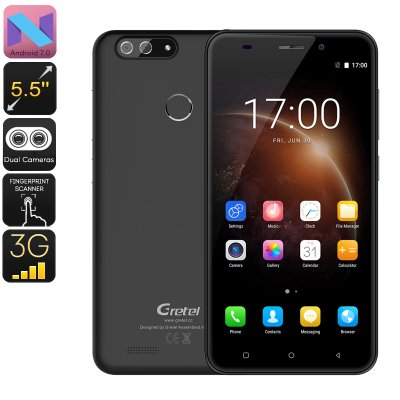 Gretel S55 Android Phone (Black)
