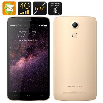HOMTOM HT17 Android 6.0 Smartphone (Gold)