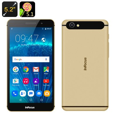 InFocus M560 Android 5.1 Smartphone (gold)