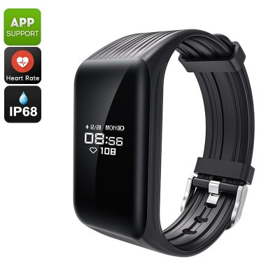 K1 Fitness Tracker Bracelet (Black)