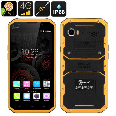 KEN XIN DA PROOFINGS W9 Smartphone (Yellow)