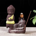 The Little Monk Backflow Incense Burner / Incense Cones Home Decoration Yellow incense burner