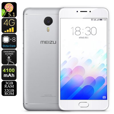 Meizu M3 Note 32GB Android Phone (Silver)