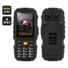 The NO 1 A9 GSM phone is the perfect outdoor companion  coming with a physical key pad  IP67 waterproof rating  4800mAh battery and a powerful flashlight