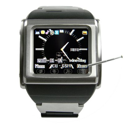 Stainless Steel Cell Phone Watch