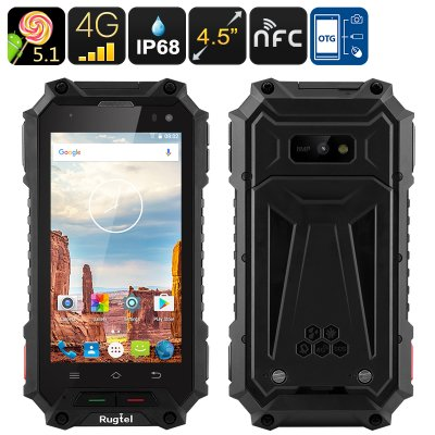 Rugtel X10 Rugged Smartphone (Black)