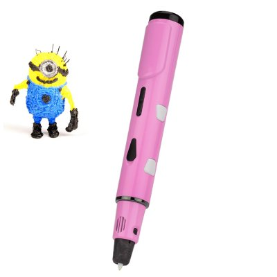 3D Stereoscopic Extrusion Modeling Pen (Pink)