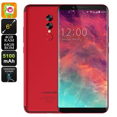 UMIDIGI S2 Android Phone (Red)
