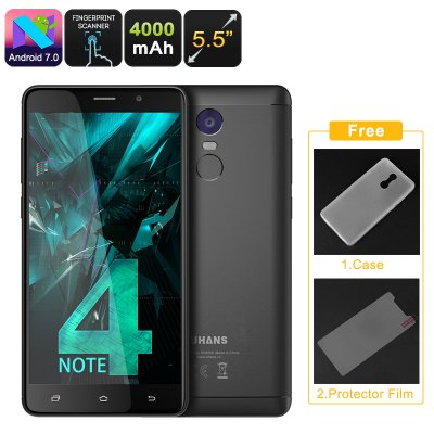 Uhans Note 4 Android Smartphone (Black)