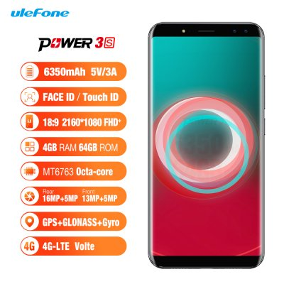 Ulefone Power 3S Android Phone (Black)