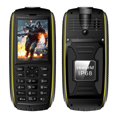 VK World Stone V3 Max Rugged Phone (Yellow)