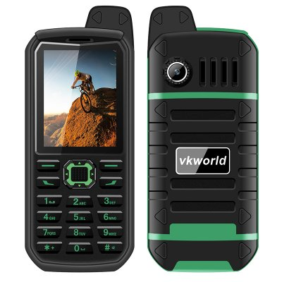 VK World Stone V3 Plus Elderly Phone (Green)