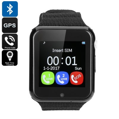 VK7 Kids GPS Smart Watch (Black)