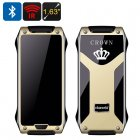 The VKWorld CROWN V8 cell phone comes with a thermal touchscreen  a built in pedometer  IR blaster  two SIM card slots and more