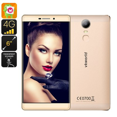 VKWorld orld T1 Plus Kratos Smartphone (Gold)