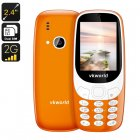 The VKWorld Z3310 cell phone is a Nokia 3310 clone that comes with Dual IMEI numbers and a whopping 1450mAh battery for 600 hours of standby time
