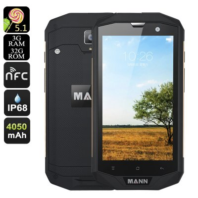MANN ZUG 5S+ Rugged Smartphone (Gold)