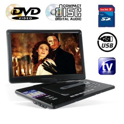 Portable DVD and Multimedia Player with 15 Inch Widescreen LCD