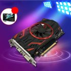 The graphics card uses high speed GDDR5 graphics card storage particles to provide a good gaming experience