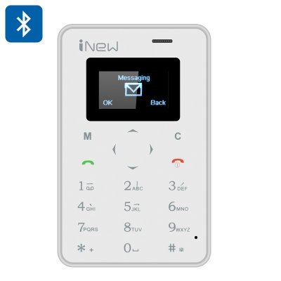 iNew Mini 1 GSM Credit Card Phone (White)