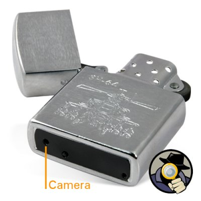 Camera Lighter + DVR (4GB Silver Copter Edition)