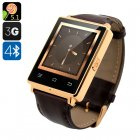 NO.1 D6 3G Smart Watch Phone (Gold)