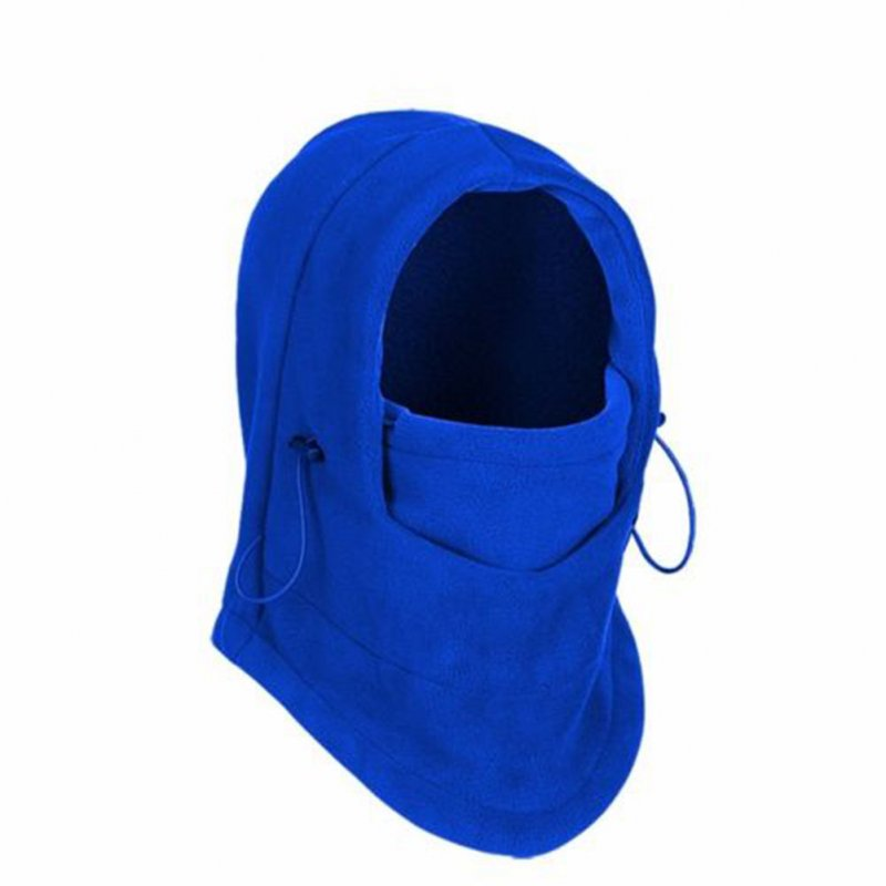Thermal Warm Fleece Balaclava Bike Bicycle Cycle Face Mask Snood Hood Neck Scarf Royal blue_One size