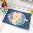 Thicken Cartoon Partoon Water Absorption Nonslip Mat for Home Bedroom Kitchen Toilet