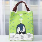 Thicken Cartoon Printing Thermal Insulated Lunch Handbag for Food