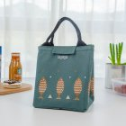 Thicken Insulated Lunch Bag Reusable Lunch Box Cute Canvas Fabric Lunch Tote Handbag Dark gray