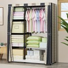 Thicken Oxford Cloth Wardrobe Dustproof Storage Cabinet Closet Bedroom Furniture