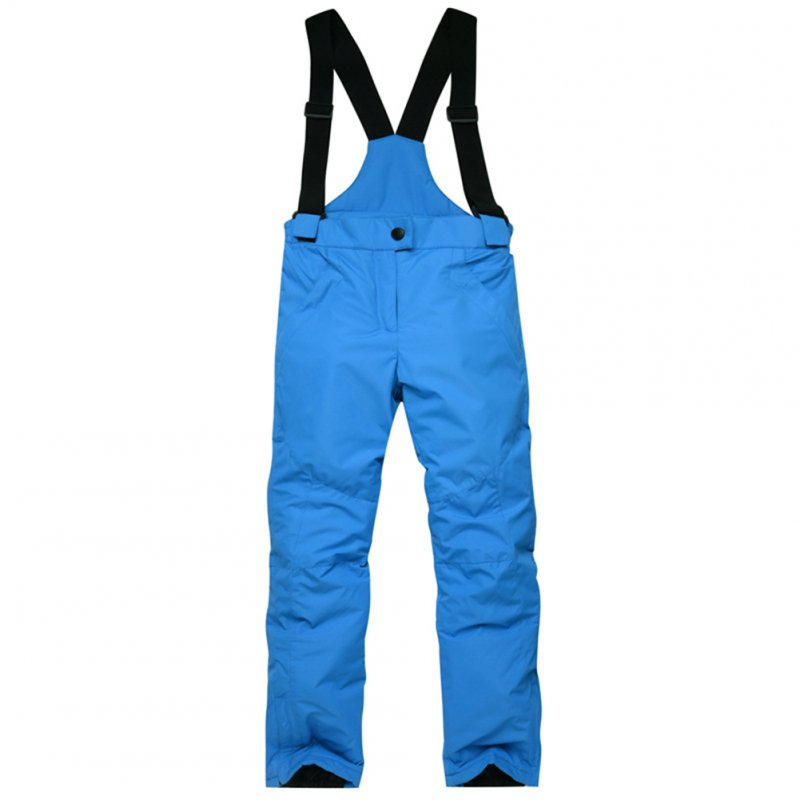 Thicken Windproof Warm Snow Children Trousers Winter Skiing and Snowboard Pants for Boys and Girls blue_L