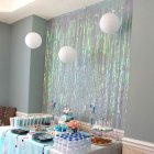 Thickened Colourful Rain String Fringe Curtain Window Door Divider Sheer Valance Home Stage Wedding Decoration 1m