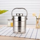 Thickened Non-magnetic Stainless Steel Insulation Barrel Leak-Proof Lunch Box with Handle Double Layer Bento Box  1.4L