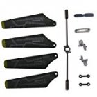ThinkMax Full Set Replacement Parts, Main Blades, Tail Blade, Balance Bar, Spare Main Grips,connect Buckle for Syma S102g