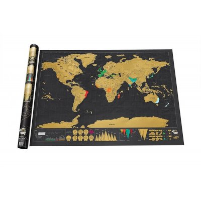 ThinkMax Scratch Off Deluxe World Map Poster