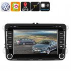 This 2 DIN Car DVD Player for your Volkswagen lets you enjoy your favorite movies  games  and apps from your dashboard  It supports 3G and Wifi connectivity