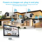 This 4 Channel NVR System comes with 4 waterproof HD cameras that provide you with clear images at day and night
