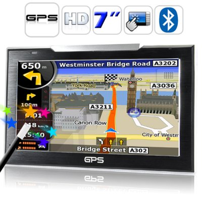 7 Inch Touch Screen GPS Navigator