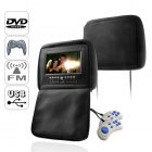 This 7 inch widescreen headrest DVD player is the best way to quickly and easily turn your car into a complete entertainment center