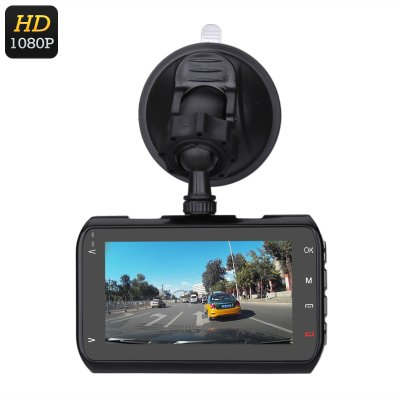 Full-HD Car DVR System (Black)