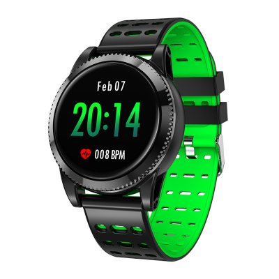 Sports Smart Bracelet - 1 3 Inch IPS Screen, 220mAh Battery, Pedometer,  Blood Pressure Monitoring, Waterproof IP67 (Green)