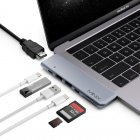 This USB C Multiport for your MacBook Pro treats you to an additional HDMI port  Thunderbolt 3 port  USB C  two USB 3 0  Micro SD  and regular SD card slot