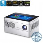 This Windows 10 Mini Projector comes with a 4 5 Inch display  It supports 1080p media to let you project games  movies  and presentations