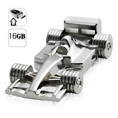 16GB USB Flash Drive - All Metal F1 Racecar