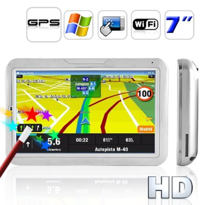 7 Inch Touch Screen GPS Navigator (WIFI + Dir