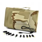 This camouflage 30w solar battery charger is great for charging your laptop whilst outside camping